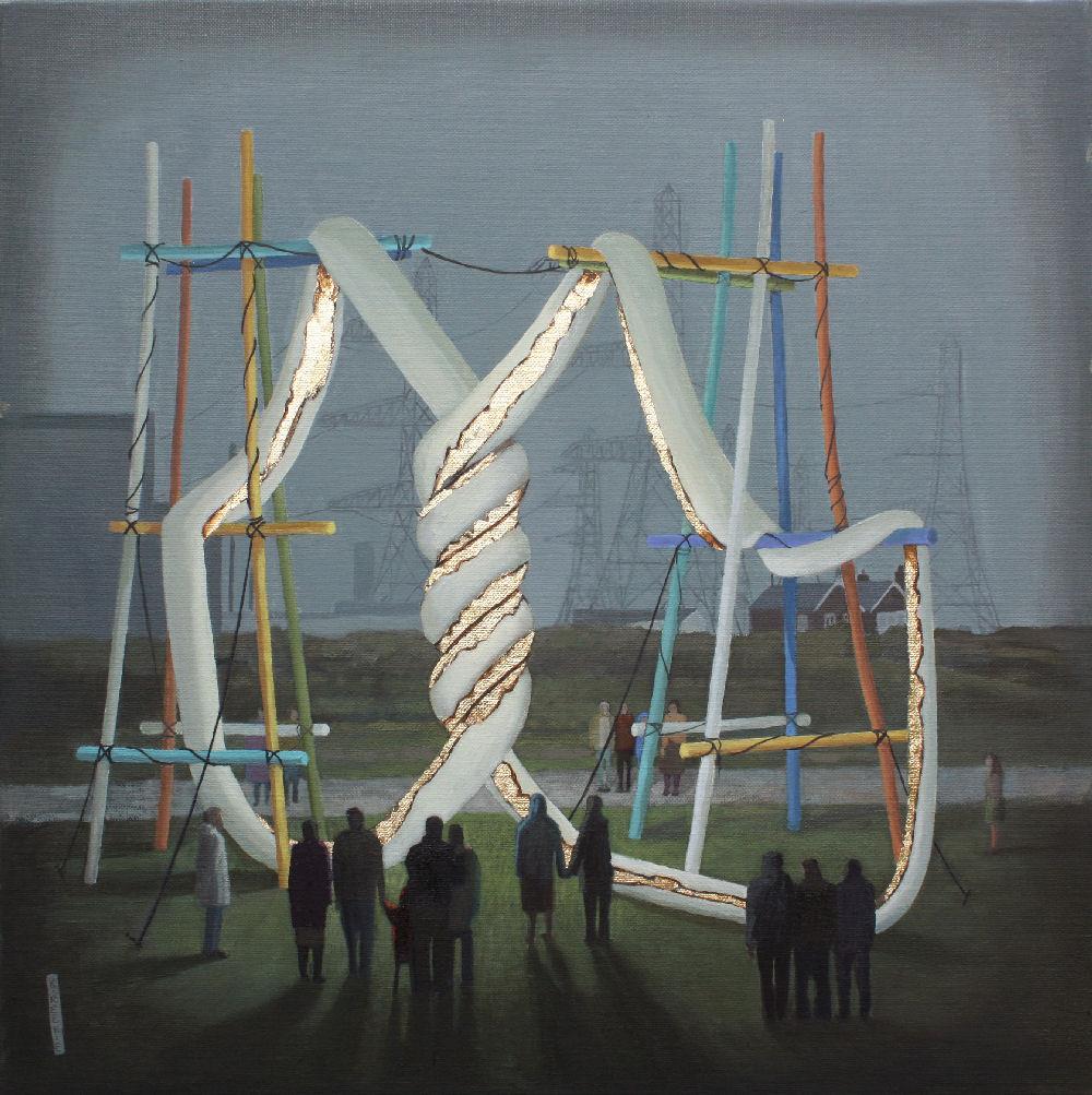 Installation near the pylons
